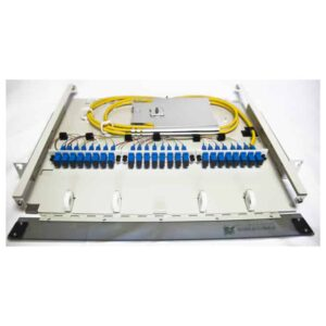 24 Port Rack Mount (1RU) w/3X8 SC Adapter Plates