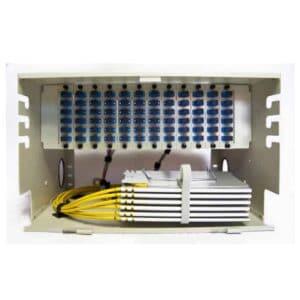 72 Port Rack Mount (6RU) w/12x6 SC Adapter Plates, w/6x12 Fiber Splice Trays, 3 Meter Pigtails