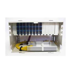 96 Port Rack Mount (6RU) w/8x12 SC Duplex Adapter Plates, w/4X24 Fiber Splice Trays, 3 Meter Pigtails