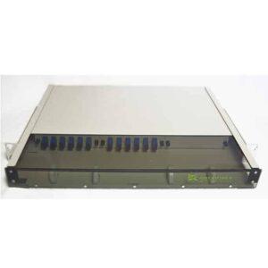 12 Port Rack Mount (1RU) w/2×6 SC Adapter Plates
