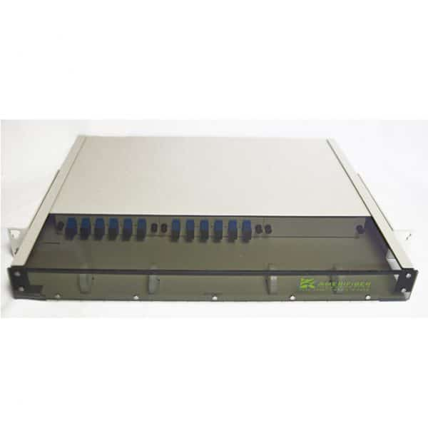 12 Port Rack Mount (1RU) w/2×6 SC Adapter Plates