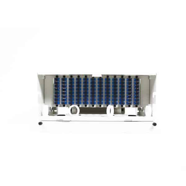 96 Port Rack Mount (4RU) w/12x8 SC Adapter Plates
