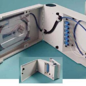 12 Port Single Door Wall Mount w/2x6 SC Adapter Plates, 1x12F Splice Tray, 1x12F SC/Open 3 meter Pigtail