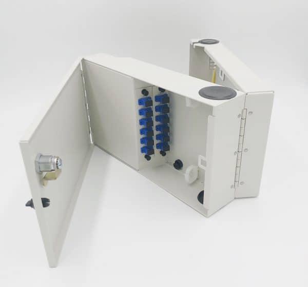 12 Port Tri-Fold Wall Mount w/2×6 SC Adapter Plates